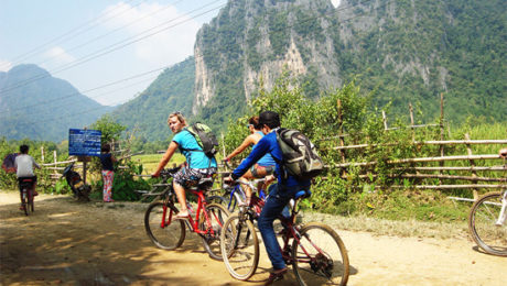 Biking in Vanvieng Laos