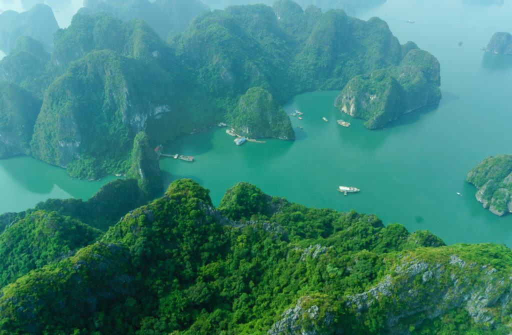 Halong Bay Panorama View fromHelicopter