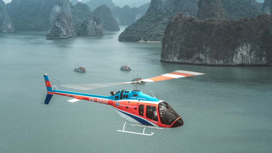 Scenic Helicopter Tour in Halong Bay